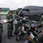 Pengamanan Satuan Terhadap Personel dan Materiil Korem 031/WB Gelar Pemeriksaan Kendaraan Dinas Prajurit